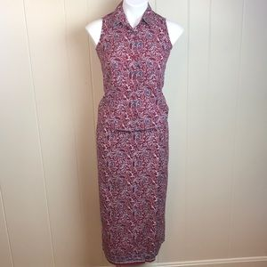 3/$27 Charter Club 2pc Sleeveless Top & Wrap Skirt